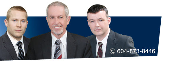 David Klein, Philip Wiseman, and Stu Davies of Vancouver law firm, Z. Philip Wiseman Law Corporation